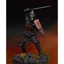 Figurine de chevalier du XIVeme siècle en résine 75mm.