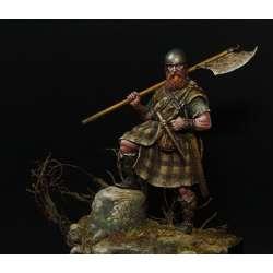 Figurine de hightlander médiéval en 75mm résine.