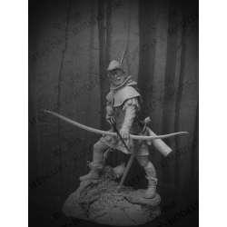 Figurine de robin des bois en 75mm résine.