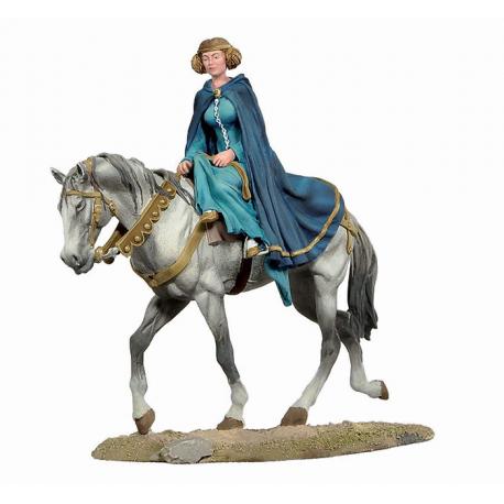 Figurine de dame noble du XIVeme siècle 54mm.