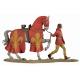 Figurine de page avec destrier au XIVeme siècle 54mm métal.