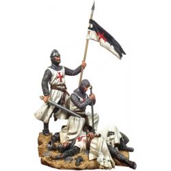 Figurines de croisés après la bataille 54mm Black Hawk.