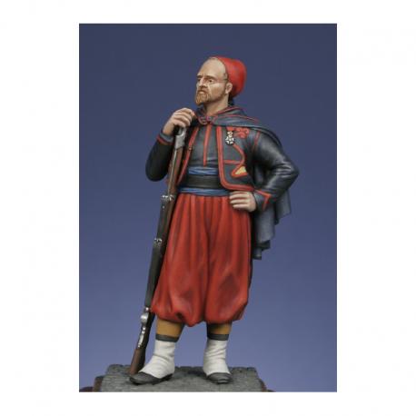 Figurine de Zouave - Crimée 1854 -1856 Metal Modeles.
