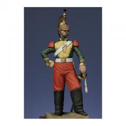 Figurine de Maréchal des logis du 6ème Rgt. de dragons - Crimée 1854 Metal Modeles.
