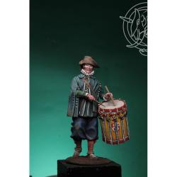 Figurine de tambour d'infanterie fin XVIeme siècle Metal.