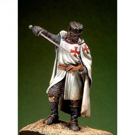 Figurine de chevalier templier XIIIeme siècle 54mm.