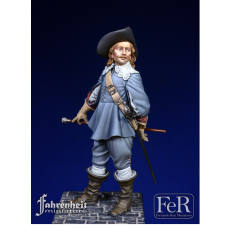 Figurine de cavalier du XVIIeme siècle 75mm FER Miniatures.