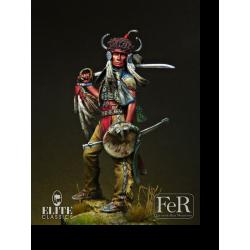 Figurine de guerrier Dakota en 1876 FeR Miniatures.