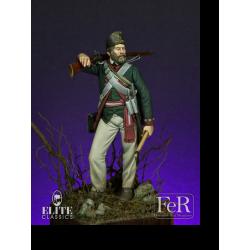 Figurine de Butler's Rangers Sergeant, 1779 FeR Miniatures 75mm.