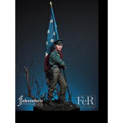 FeR Miniatures 7th Kentucky Inf. Regiment Flagbearer, 1862 75mm.