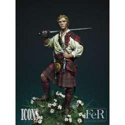 Figurine de Rob Roy 75mm FeR Miniatures.