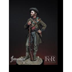 Figurine de 15th Georgia Volunteer Infantry, Gettysburg, 1863 FeR Miniatures 75mm.