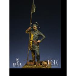 Figurine de halbardier Suisse au XVeme siècle 54mm