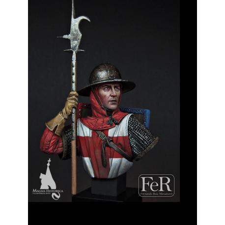 Buste de soldat anglais à Crécy en 1346 au 1/12 éme FeR Miniatures.