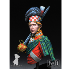 Buste 1/10 éme de 92nd Regiment of Foot,Gordon HighlandersWaterloo, 1815 FeR Miniatures.