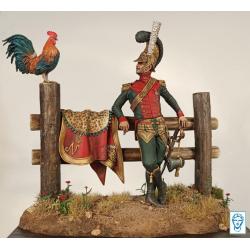 Figurine 75mm de Major des chevau-légers lanciers, 1813 Alexandros Models.