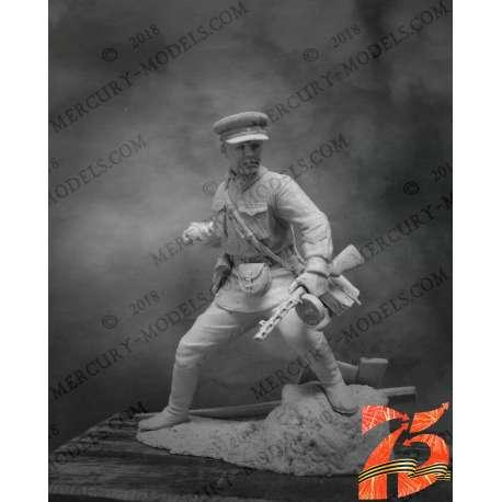 Figurine de lieutenant soviétique 1942 en résine 75mm.