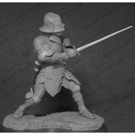 Figurine de chevalier'du XVeme siècle 75mm Mercury Models.