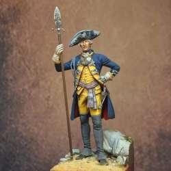 Officer Leib Infantry Regiment. Hesse-Kassel, America 1775 Art Girona.