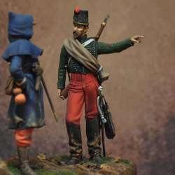 Figurine du 2eme régiment de chasseur en 1870 Art Girona 75mm.