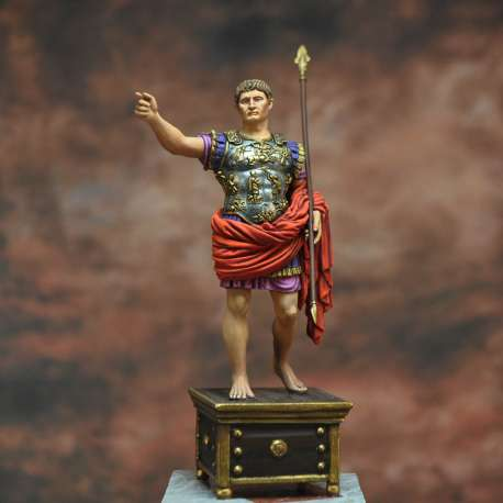 Augustus (Caius Iulius Caesar Octavianus). First Roman Emperor, 63BC-14AD Art Girona 54mm