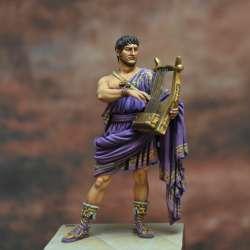 Nero Claudius Caesar Drusus, Roman Emperor, 37-68 a.C. Ar te Girona 54mm.