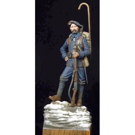 Figurine RÉSINE de chasseur des alpes 54mm Masterclass.