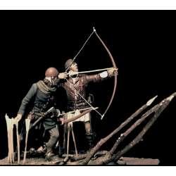 Figurines d'archers en 1415 en RÉSINE 54mm.