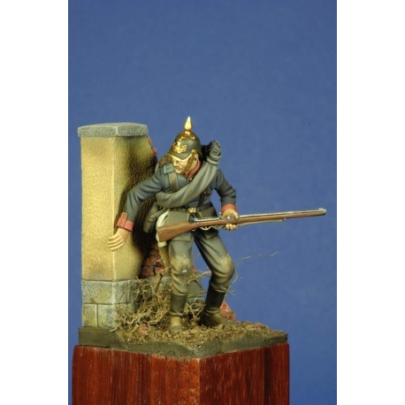 Figurine de soldat Prussien en 1870 RÉSINE 54mm Masterclass.