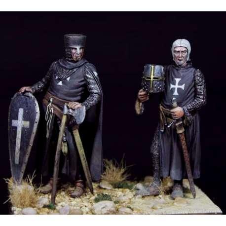Figurine de chevaliers croisés à Jérusalem en RÉSINE 54mm Masterclass.
