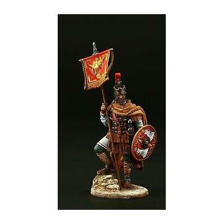 Figurine de vessilifer cavalier Romain 75mm en RÉSINE.
