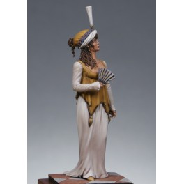 Metal Modeles,54mm, 1st Empire woman in ball dress.Metal figure kits.
