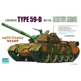 Trumpeter 1/35e Char T-59D chinois avec blindage reactif.