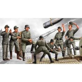 """Set de 8 figurines .Artilleurs canon de 280mm """"Leopold"""" ,1942. Figurine Trumpeter 1/35e"""