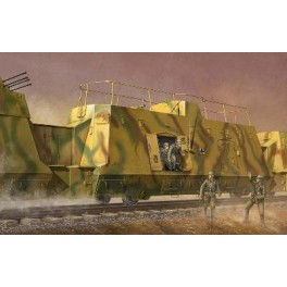 Wagon blindé Allemand transport de troupes. Maquette de train Trumpeter 1/35e