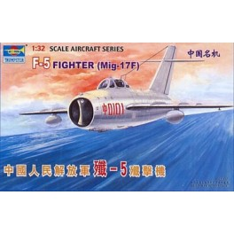 CHASSEUR SOVIETIQUE MIG-17F / + VERSION CHINOISE F-5  Maquette avion Trumpeter 1/32e
