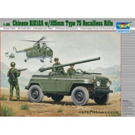 Trumpeter 1/35e JEEP CHINOISE BJ212a AVEC CANON S/ RECUL 105MM