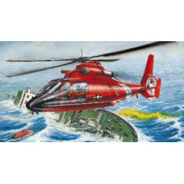 "Trumpeter 1/25e HELICOPTERE ""DAUPHIN"" US COAST GUARDS"