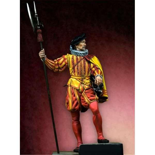Figurine 75mm de Hallebardier par Pegaso Models.