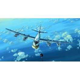 """BOMBARDIER SOVIETIQUE TUPOLEV TU-95MS """"BEAR H"""". Maquette d'avion.) Trumpeter 1/144e"""