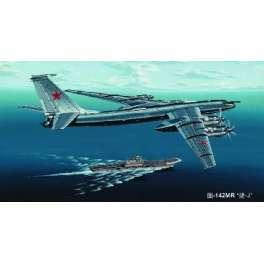 "Trumpeter 1/144e BOMBARDIER SOVIETIQUE TUPOLEV TU-142MR "" BEAR-J"""