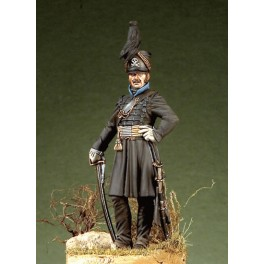 Pegaso models.54mm.Officier de hussard de la mort, duché de Brunswick, 1815.