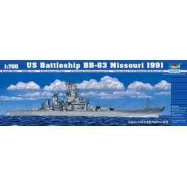 CUIRASSE U.S. BB-63 MISSOURI - 1991. Maquette de bateau. Trumpeter 1/700e