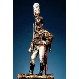 Figurine Pegaso Models 54mm Officier de hussard  de la garde impériale  Russe 1802-1809.