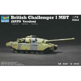 Trumpeter 1/72e CHAR DE BATAILLE BRITANNIQUE CHALLENGER 1 MBT (version OTAN)