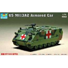 Trumpeter 1/72e US M 113A2 VEHICULE BLINDE