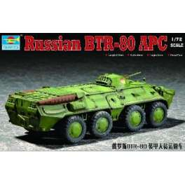 Trumpeter 1/72e VEHICULE BLINDE RUSSE BTR-80 APC