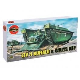 LTV 4 BUFFALO AMPHIBIE ET JEEP WILLYS. Maquettes militaires. Airfix 1/72e