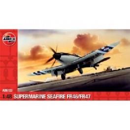 SUPERMARINE SEAFIRE FR46/FR47. Maquette d'avion. Airfix 1/48e