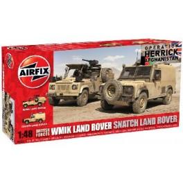 LAND ROVER - ARMEE BRITANNIQUE EN AFGHANISTAN 2006 . Maquette de véhicule militaire. Airfix 1/48e